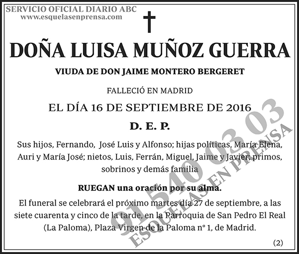 Luisa Muñoz Guerra